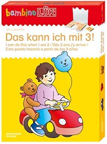 bambinoLÜK-Sets: Georg-Westermann-Verlag bambinoLÜK Set Das kann ich mit 3: Kasten + Übungsheft/e / 3...