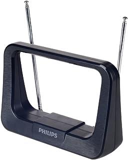 Antena Digital Interna HDTV/UHF/VHF/FM, Philips, Preta