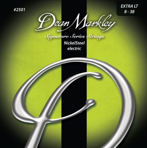 Dean Markley 2501 Extra Light Signature Series Cuerdas para guitarra eléctrica (0,08-0,38)...