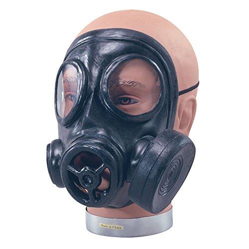 Bristol Novelty BA582 gasmasker, heren, zwart, eenheidsmaat