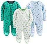 Simple Joys by Carter's 3-Pack Sleep and Play Footie, Sports/Cars/Dino, 3-6 Months, Pack of 3