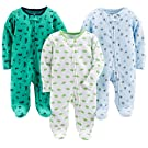 Simple Joys by Carter's Baby Boy's 3-Pack Sleep and Play, Pack of 3