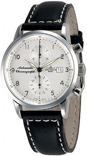 Zeno Watch Basel Herren Uhr Analog Automatik mit Leder Armband 6069BVD-WG-e2