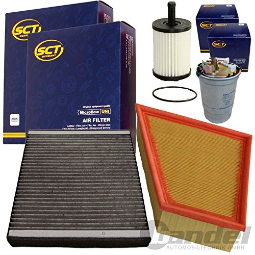 Inspektions Satz Filter Set 1x Luftfilter1x Kraftstofffilter1x Filter, Innenraumluft ( Aktivkohle )1x Oelfilter