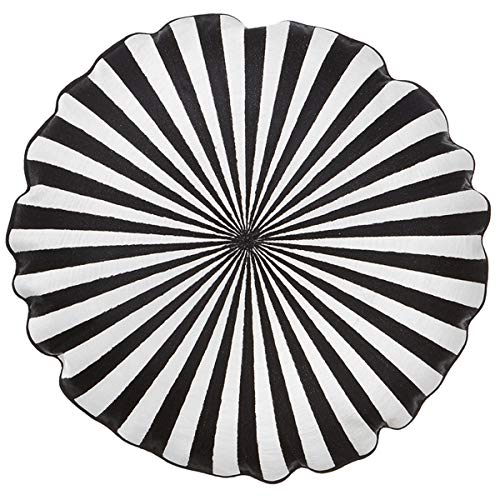 Bungalow - Kissen, Statement Kissen, Zierkissen - Circus - Farbe: Black - Ø: 45 cm - mit Füllung