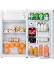 Hoover 120 Liters Free standing Single Door Refrigerator , Best Compact / Small size Fridge for Mini Bar , Room or Office , Reversible Door , Silver - HSD92-S