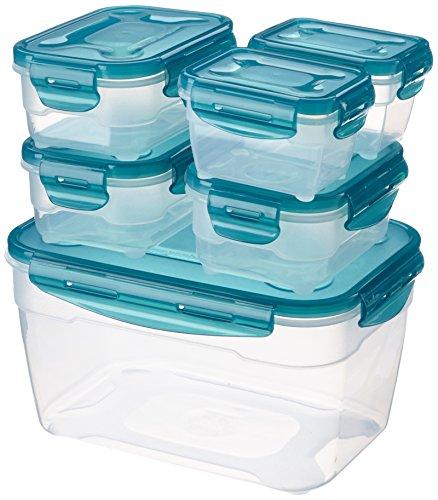 AmazonBasics Juego de almacenamiento de comida de 6 unidades