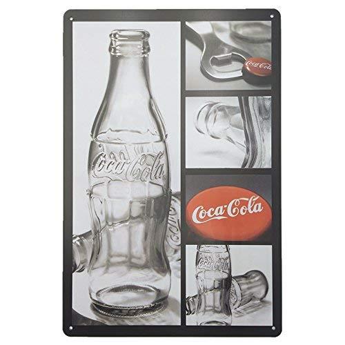 MARQUISE & LOREAN | Chapas Decorativas Metálicas para Pared Coca Cola | Incluye Papel Burbuja Súper Protección y Cuerda para Colgar | Carteles Decoración Vintage Cocacola | 20 x 30 cm