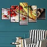 YXWLKG 5 aufeinanderfolgende Gemälde 5 Stück Leinwand