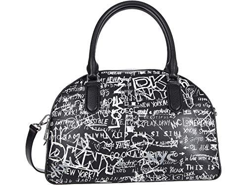 DKNY Erin Satchel Black/White Street Graffiti One Size