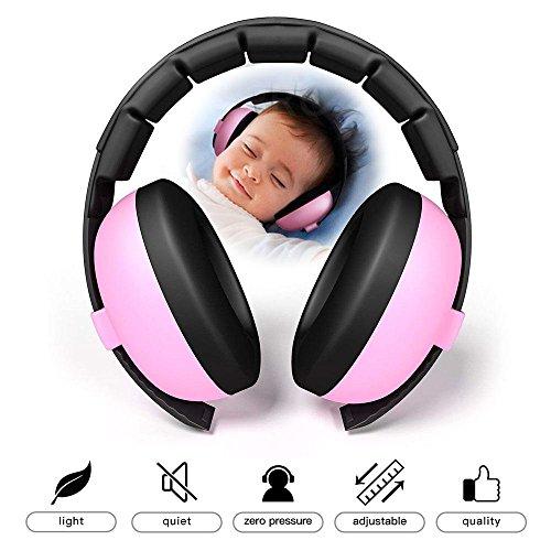 Kobwa gehoorbescherming hoofdtelefoon met ruisonderdrukking voor kinderen en peuters, verstelbaar voor 3 maanden tot 10 jaar