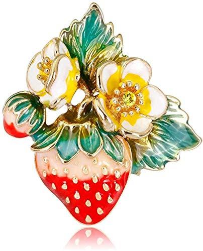 ZSEXDR FOPUYTQABG Brooch Brooch Painted Enamel Strawberry Brooch with Brooch Jewelry