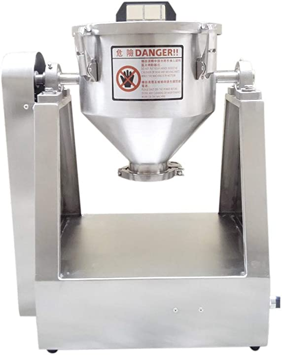 Miscelatore di polvere secca impastatrice  miscelatore 0-33 rpm (10l(2-5kg) yuchengtech 10l 9443389959070