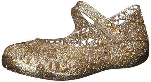 Mini Melissa Campana Zig Zag VI SP BB Mary Jane Shoe (Toddler), Mixed Golden Glitter, 8 M US Toddler