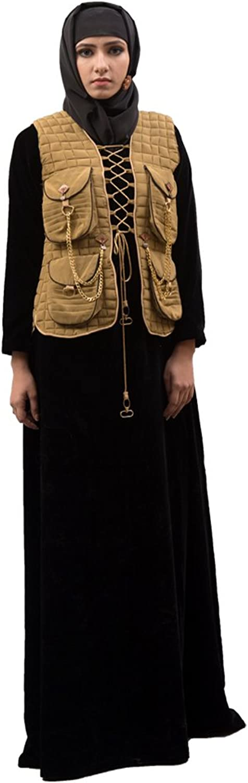Kolkozy Fashion Women's Jacket Style Abaya Black
