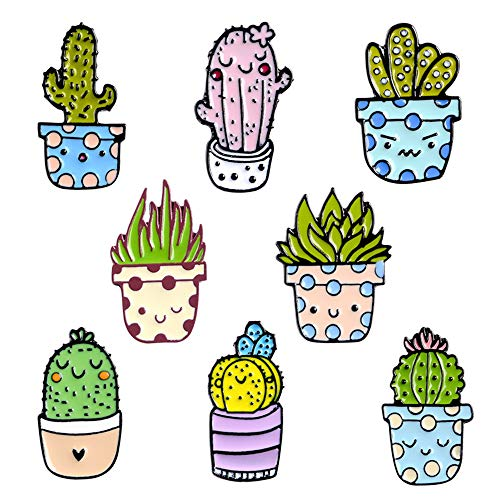 FULAISI Süße Kaktus-Brosche, Anstecknadeln für Kleidung, Jacken, Rucksack, Brosche für Kleidung, Kragen, Mützen, Kleidung, Anhänger, Broschen, Dekoration.