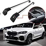 Titopena Roof Rack Cross Bars fit for BMW X5 2014-2020 F15 G05 Aluminum Cross Bar Replacement for Rooftop Cargo Carrier Bag Luggage Kayak Canoe Bike Snowboard Skiboard