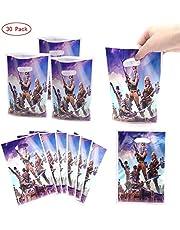 HASAKA 30 Paquetes Bolsas de Regalo de Fiesta Battle Royale Bolsas de Fiesta de Videojuegos para niños Decoraciones de Fiesta temáticas Suministros de Fiesta de cumpleaños Favores y Baby Shower