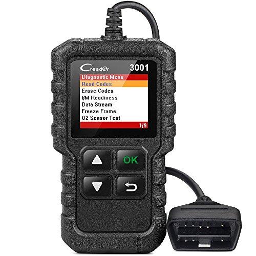 LAUNCH Creader 3001 obd2 diagnosegerät OBD2-Scanner für Autos, Diagnosekontrollleuchte, O2-Sensorsysteme, OBD-Code-Leser, Scan-Werkzeug