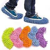Yanshan 1pc Pasture Staub-Reiniger Slippers Home Bad Bodenreinigung Mopp-Reinigungsmittel Slipper Faule Schuhe Mikrofaser-Abdeckung Duster Cloth (Color : Purple, Size : 1 Piece)