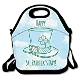 N / A Happy St. Patrick's Day Clover Lunch Bag Lunch Tote