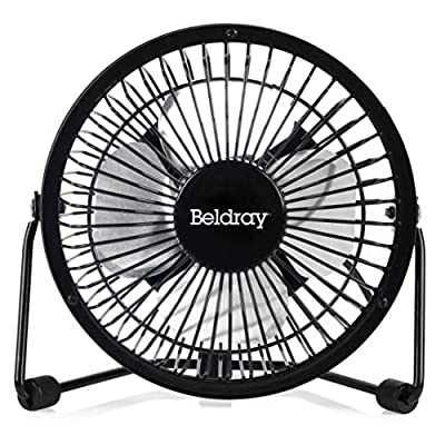 "Beldray EH2665STK USB Mini Desktop Tilting Cooling Office Fan, 4"", 5 V, Black For PC, Laptop, Mac Book, Chromebook"