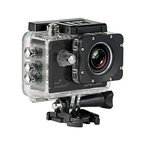 SJCam SJ5000 Plus (Versión Española) - Videocámara Deportiva con Chip Ambarella y Sensor Panasonic 16MP (WiFi Integrado LCD 1.55'', 2k 2560x1440/30fps, Sumergible 30M) Color Negro