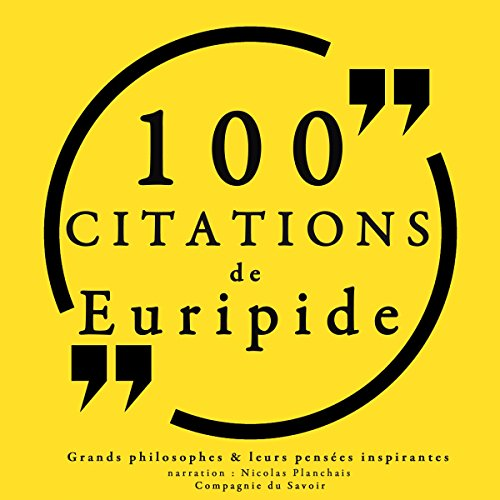 100 citations d'Euripide audiobook cover art