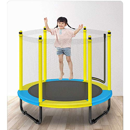 TBTBGXQ Trampoline for Kids with Enclosure Net Trampoline Indoor Outdoor Zero Gravity Trampoline Super Load Bearing Silent Trampoline Help Children Grow And Play 150X125cm