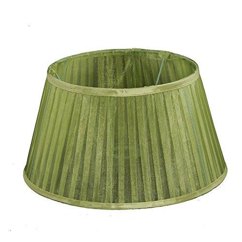 Lampenschirm für Tischleuchte in Rund Organza Grün TL 25-18-14