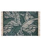 Atmosphera - Tappeto decorativo in cotone, 120 x 170 cm, colore: Verde giungla