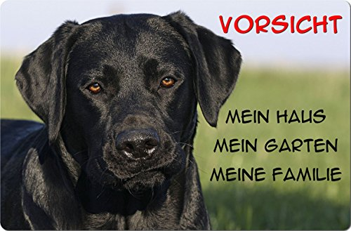 +++ LABRADOR Retriever - Metall WARNSCHILD Schild Hundeschild Sign - LAB 56 T1 S