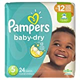Pampers Baby Dry, Diapers Size 5, 24 Count