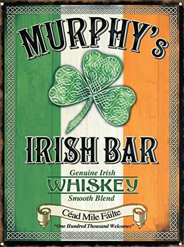 Cartel de Murphy's Advert de whisky irlandés liso / encantador cartel de pared de metal para decoración del hogar Bar Pub Cafe