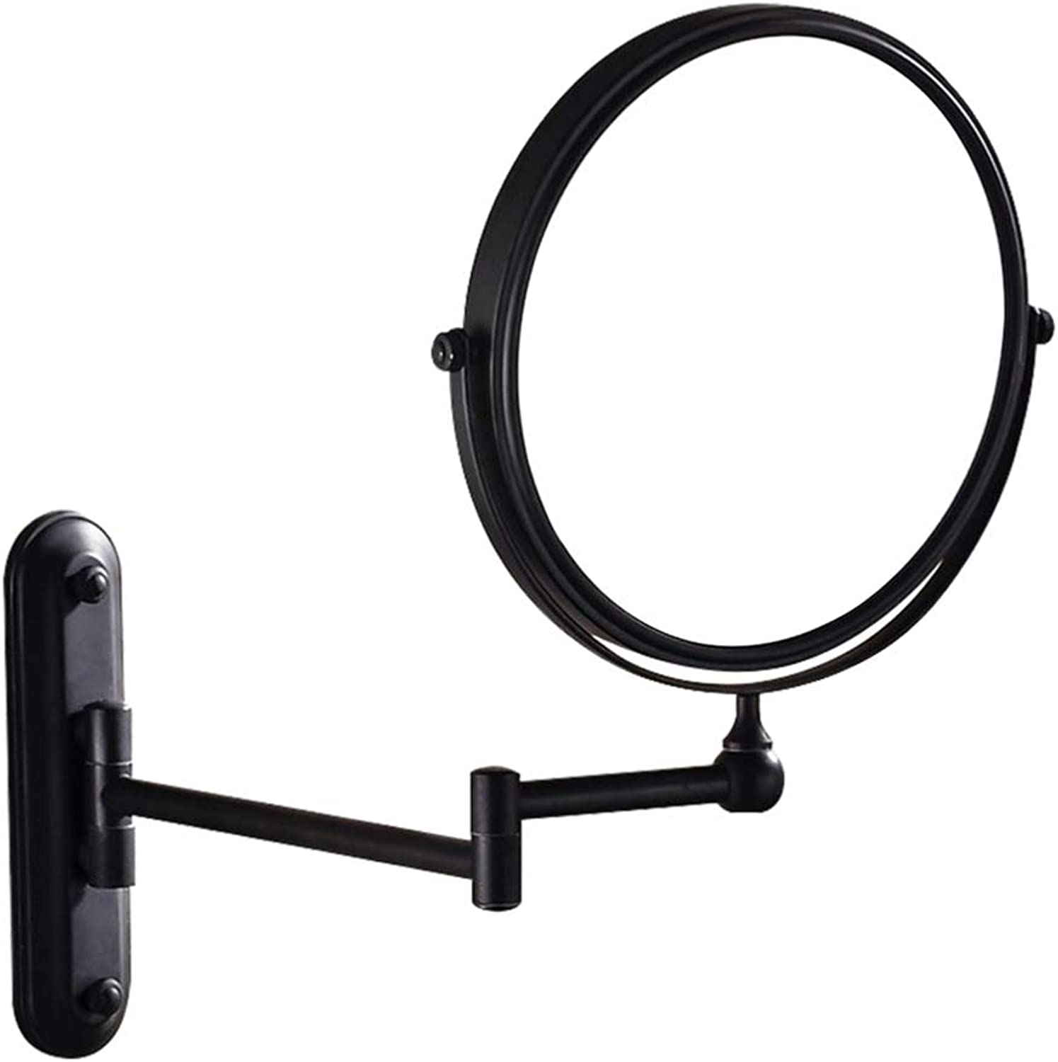 Wall Mounted Bathroom Hotel Makeup Mirror 10x Magnifying Double Sided Extension Arm 360 Degree Swivel Glass Mirrors,8inchs3X