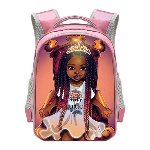 Cute Afro Girls Backpack Children School Bags Cartoon Black Girls Daypack...