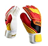 Mitre Awara Goal Keeper Gloves - White/Red/Yellow, Size 4