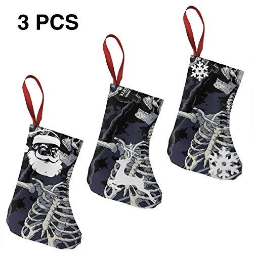 The Dead are Drinking Weihnachtsstrumpf, 3 Stück Socken für Weihnachten, Heimdekoration, gefüllter Weihnachtsbaum, Süßigkeiten-Geschenktütenhalter für Kinder, Heimdekoration und Partyzubehör