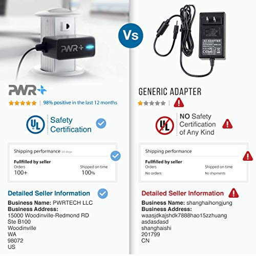 """[UL Listed] Pwr+ Extra Long 6.5 Ft Fastest 3.5A Charger AC Adapter for Fast Charging Hd Hdx 6"""" 7"""" 8.9"""" 9.7"""" 10.1"""" Oasis Fire, Samsung Galaxy Tablet and Phone, ZTE, HTC, LG, Oneplus, Alcatel, Motorola"""