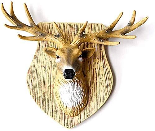 Suge Resina Wall Deer Cabeza Colgando hogar Creativo decoración de la Pared Artificial de Animales Crafts