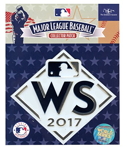 2017 World Series Astros vs. Dodgers Embosstech Collectors Sleeve Patch White