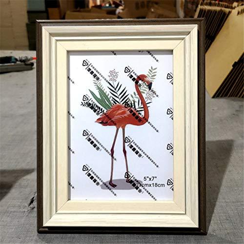 DHHY Marco De Fotos Creativo Simple PVC Marco De Fotos Rectangular Duradero Sala De Estar Dormitorio Pasillo Decoración Marco 1 Uds 8 Inch