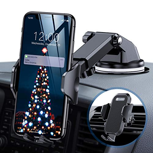 andobil Handyhalter fürs Auto Handyhalterung Upgrade 4.0 Lüftung & Saugnapf Halterung 3 in 1 Universale KFZ Handyhalterung Smartphone Halterung für iPhone11/11 Pro/Samsung S20/S10/HUAWEI Xiaomi LG usw