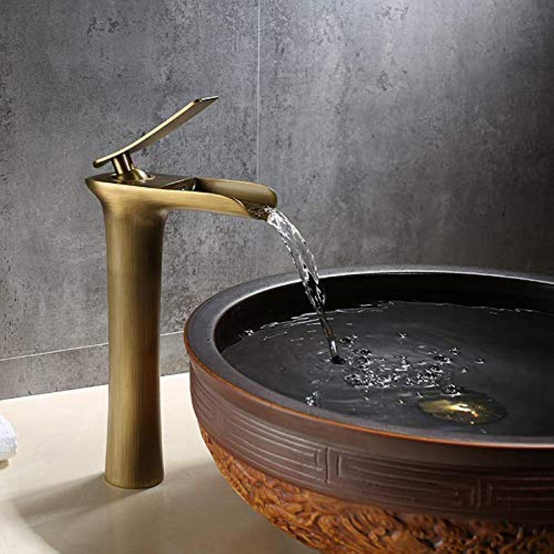 Wasserhahn Waschbecken Copper Retro Bathroom Washbasin Single Cold Faucet Household Single Cold Sink Basin Faucet