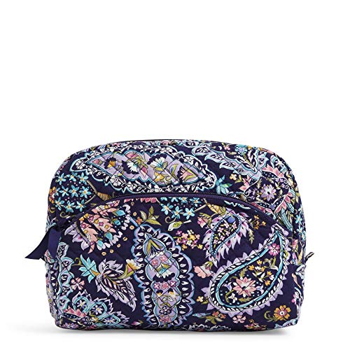 Vera Bradley Signature Cotton Cosmetic Makeup Organizer Bag, French Paisley