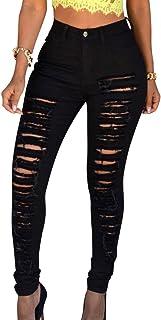 ea736301 Amazon.es: pantalones rotos mujer negros