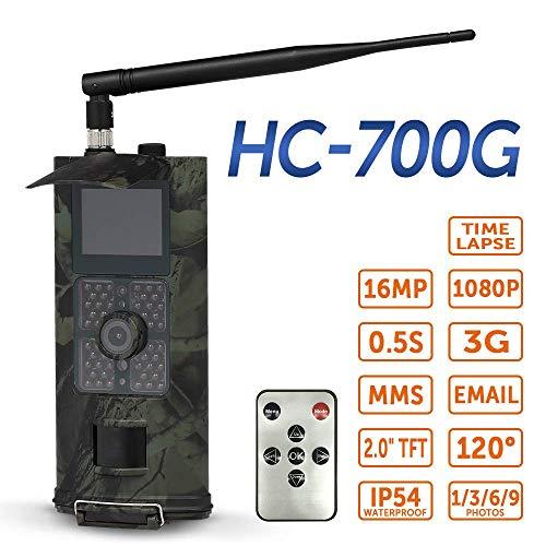 MYZZ 3g Kamera 16mp 1080p Wildkamera Falle mit Infrarot Nachtsicht 65ft IP65 wasserdicht für Heimsicherheit Wildüberwachung/Jagd