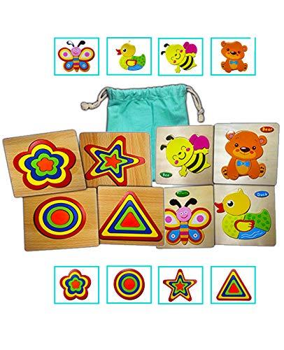Puzzle Madera Bebes 2 años Juguetes Bebes 1año a 3 años Juguete Montessori, Set Madera Educativo, Juego Regalo rompecabezas Navidad