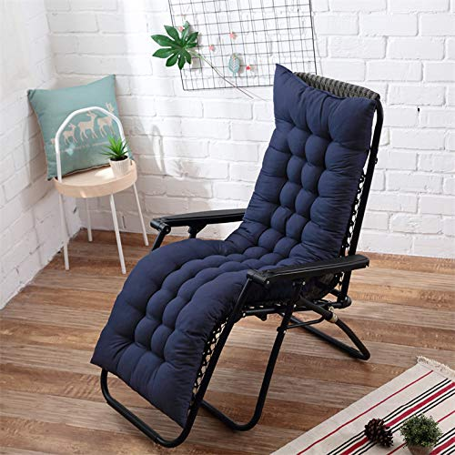 AINIYUE Cojines de Silla, cojín para Muebles de jardín, colchoneta de jardín portátil Acolchada Gruesa, cojín de Chaise Lounge para Exteriores 48X125cm Azul Profundo: Amazon.es: Hogar