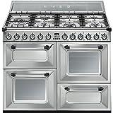 Smeg TR4110X - Cocina (Cocina independiente, Acero inoxidable, Giratorio, Frente, Encimera...